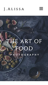 Comercial y Editorial website templates – Fotógrafo de Comida