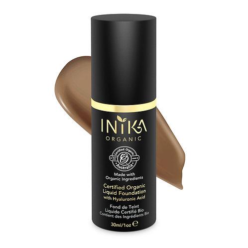 INIKA Certified Organic Liquid Foundation Toffee 30ml