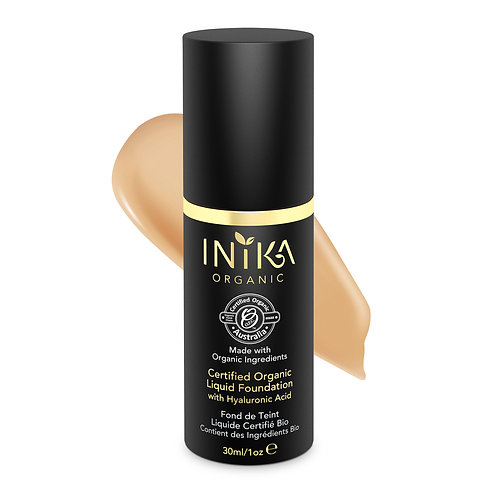 INIKA Certified Organic Liquid Foundation - Tan 30  ml