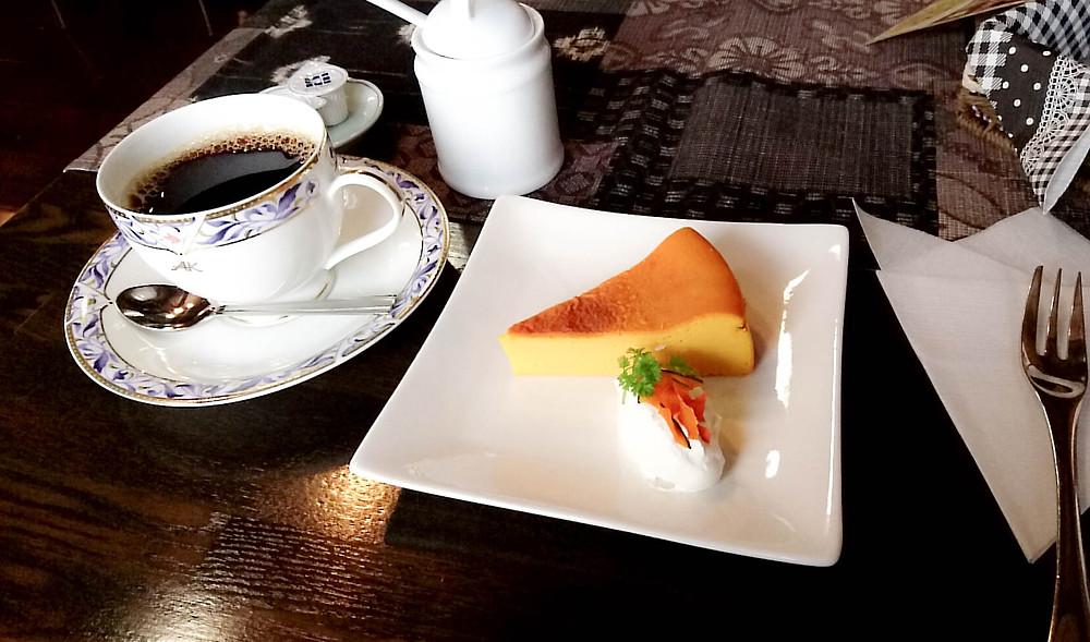 燻製カボチャのチーズケーキ