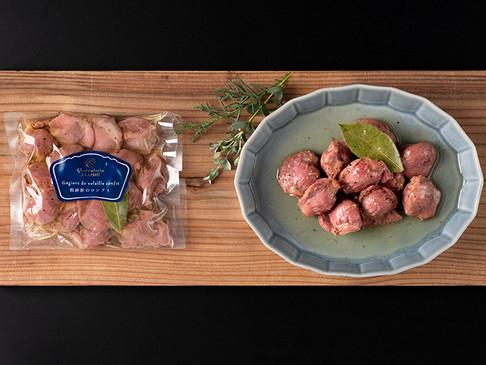 鶏砂肝のコンフィ / Gégiers de volaille confit