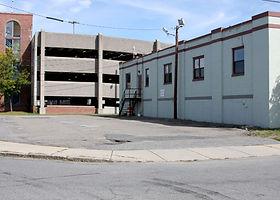 Parking lot on corner