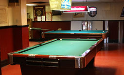 Pool tables in our Social Room