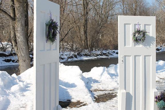Set of White Antique Doors