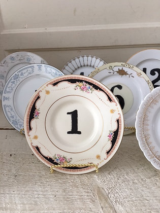 Hand Painted Table Numbers 1-10