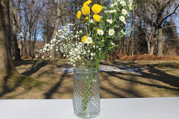 Hobnail Glass Vases Set of 16