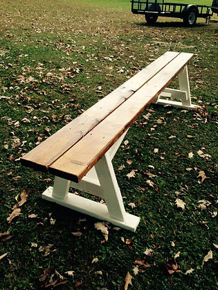 Wood Benches Set of 6