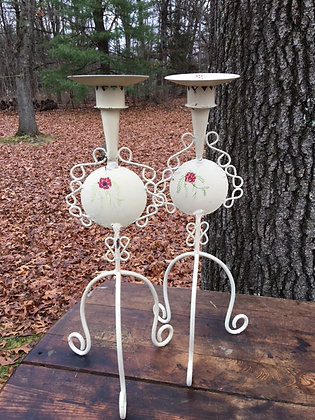 Floral Candle Holders