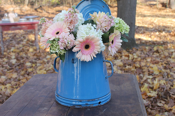 Bright Blue Antique Coffee Pot