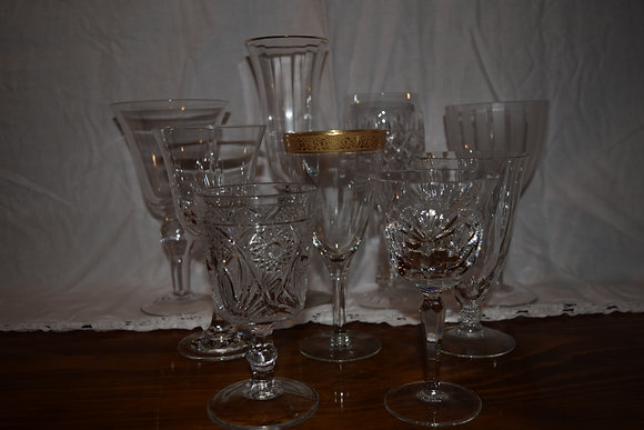 Wine and water goblets