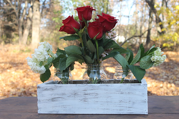 White Washed Wooden Boxes