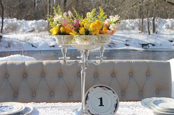 Charming Teacup Centerpieces