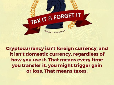 Cryptocurrency and Taxes #1