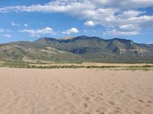 Sand and a 14k Blanc peak.