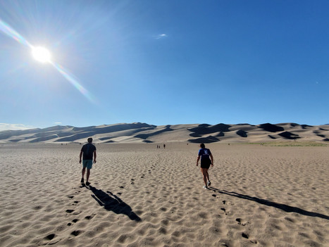 Sand dunes, in Colorado