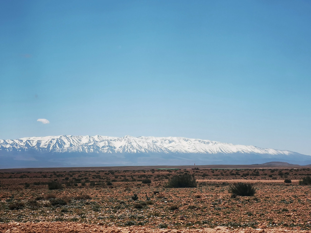 Morocco's snow capped mountains