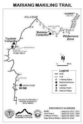 Mount Makiling Map by Makiling Center for Mountain Ecosystems