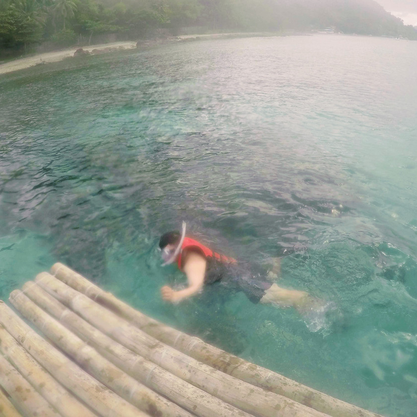 Man snorkeling in Anilao Batangas