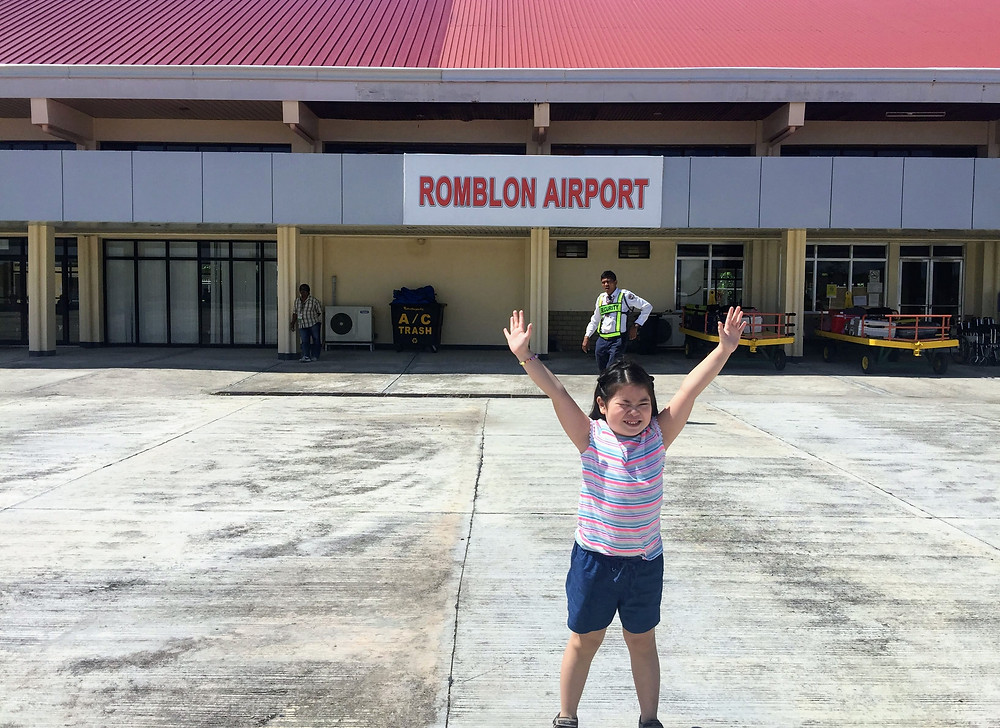 Little girl at Romblon Tugdan Airport