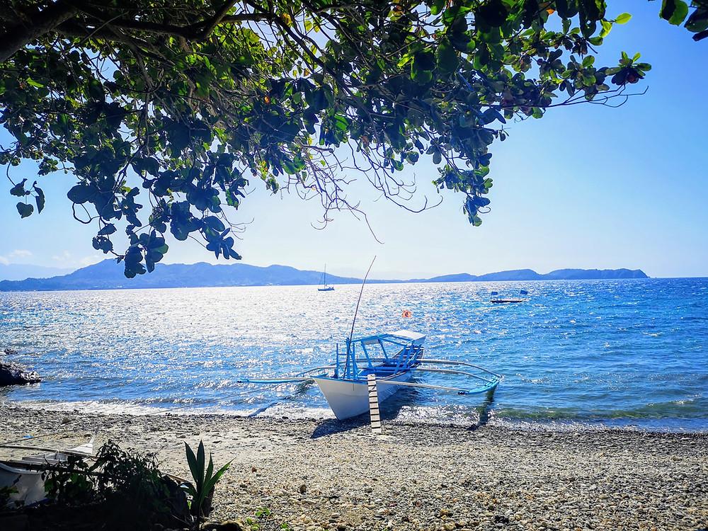 Anilao Batangas Beach View with  Boat
