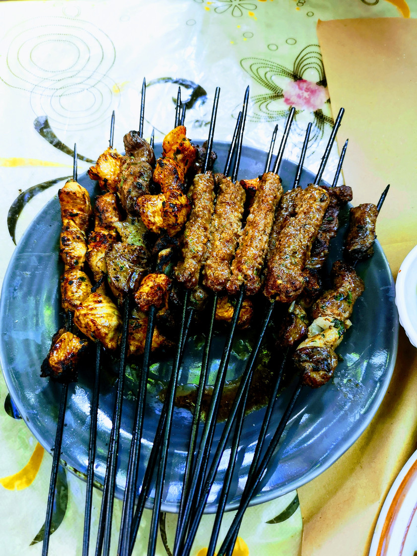 Moroccan meat skewers