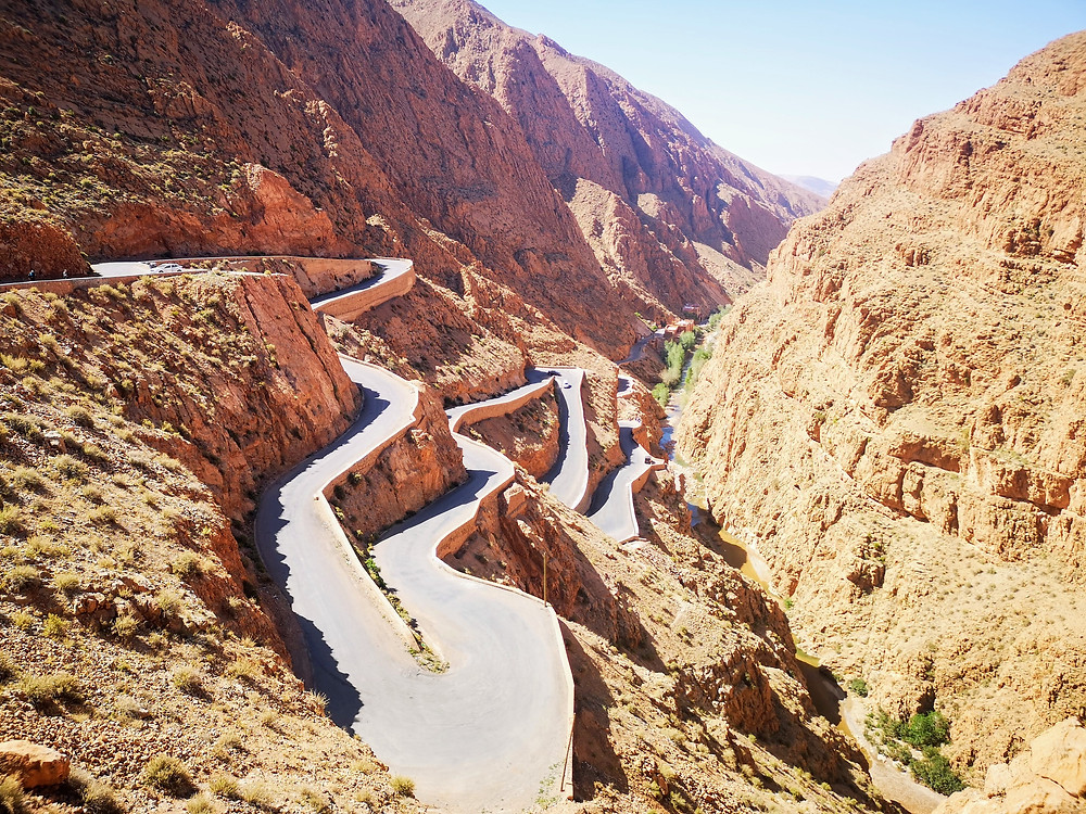 Ouarzazate Road Bends