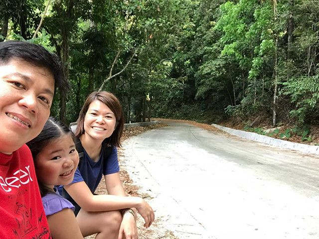 Family Aguiventures resting at Mount Makiling