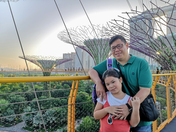 Father and daughter at OCBC Skyway Gardens by the Bay Singapore