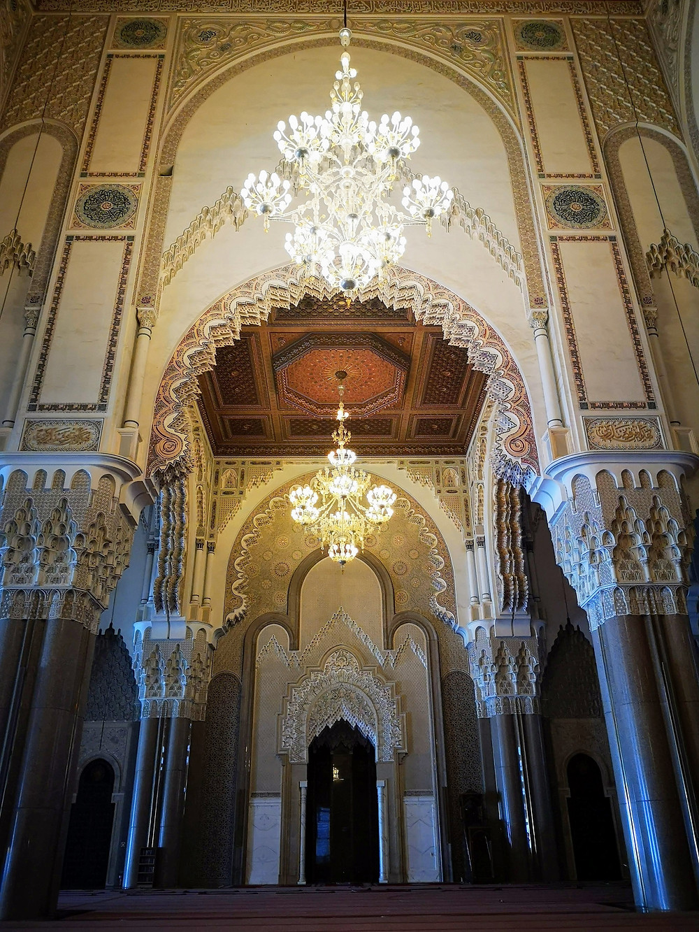 Adornment inside Hassan II Mosque