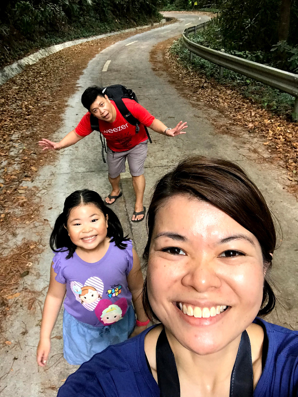 Happy family of Aguiventures while hiking Mount Makiling