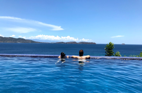 Mother and Daughter enjoying View from Vivere Azure Infinity Pool