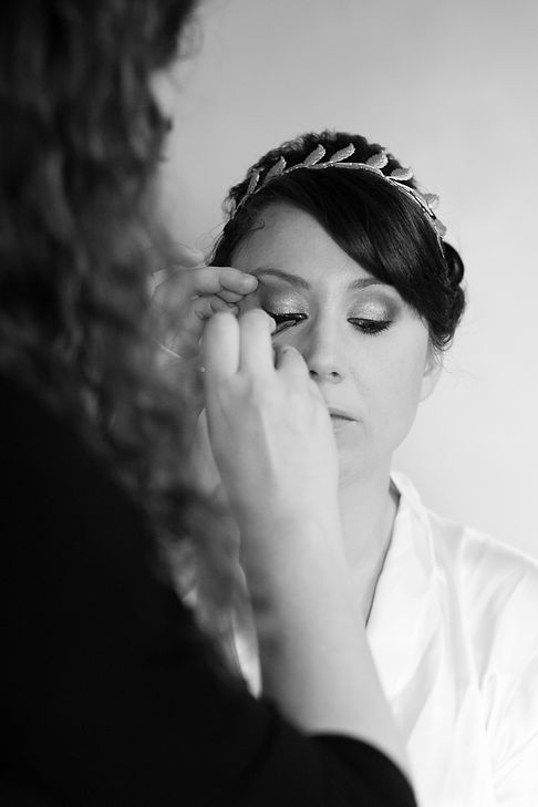 Applying Bridal Makeup and Lashes