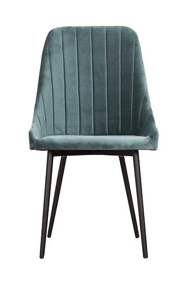 Krzesło Velve morska zieleń welwet plusz
