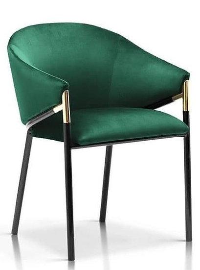 Krzesło Oliser czarne nogi ze srebrnymi wstawkami
