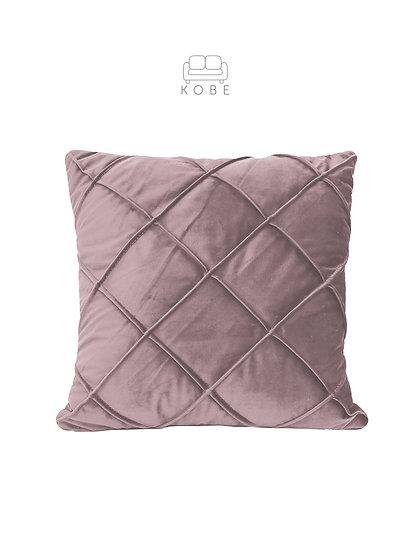 Welurowa poduszka z przeszyciami w romby