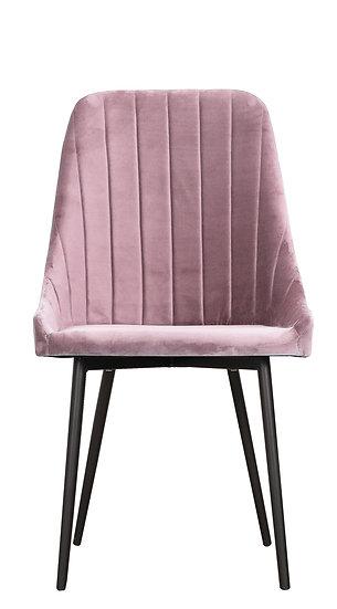 Krzesło Velve brudny róż welwet plusz