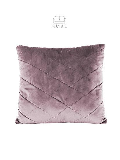 Welurowa poduszka z zaszyciami w romby