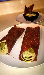 Sun dried tomato raw wrap