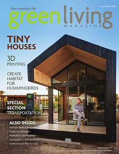 Green Living AZ Magazine Cover September 2014 Tiny Houses