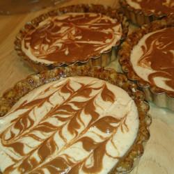 Chocolate swirl heesecake