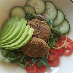 Falafel, Caesar Salad
