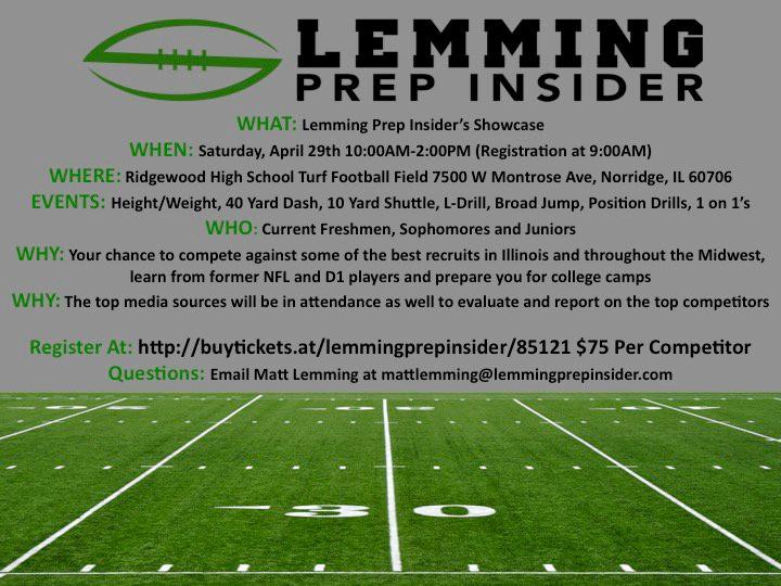 Deep Dish Football will be at the Lemming Prep Insider Showcase