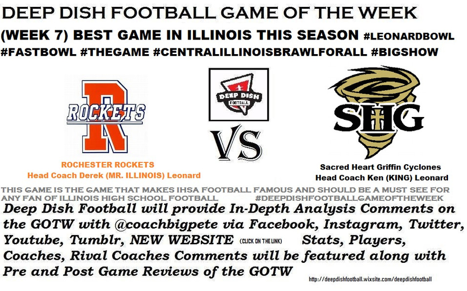 Deep Dish Football Game of the Week for Week 7