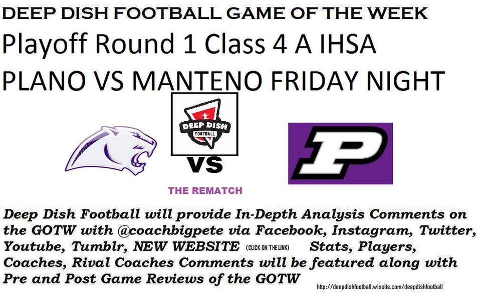 Manteno vs Plano Deep Dish Football GOTW Preview for Friday Night