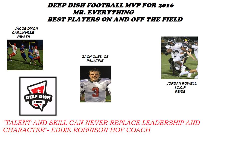 Deep Dish Football 2016 MVP 3 Way Tie
