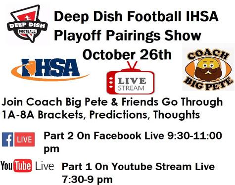 Deep Dish Football LIVE 10/16/19