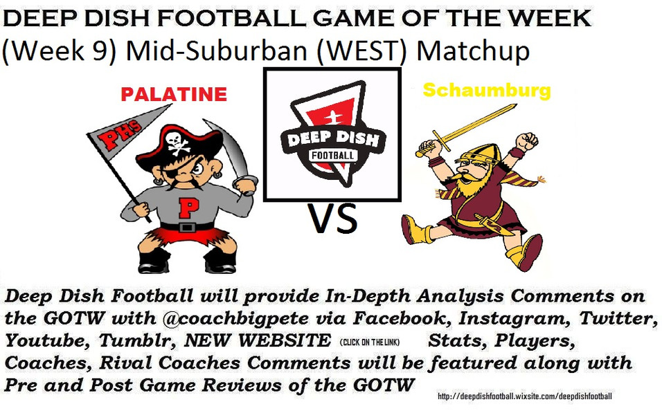 Tonight Deep Dish Football GOTW for Week 9