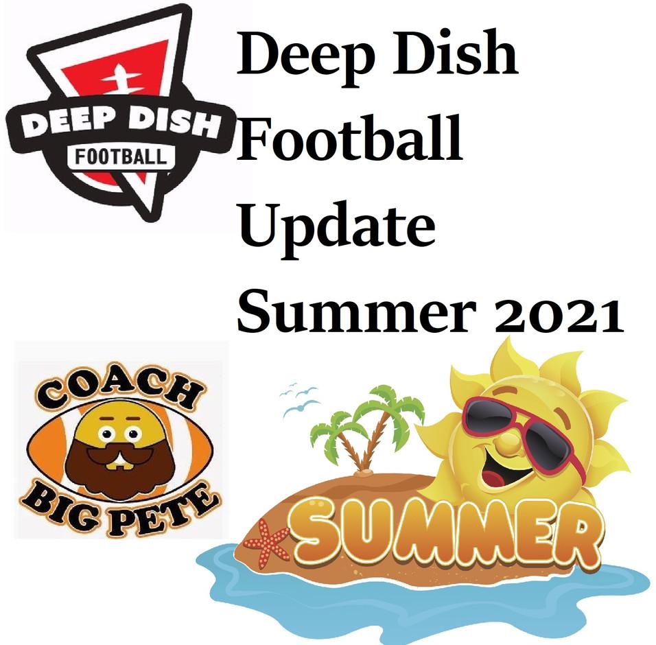Deep Dish Football 2021 Summer Update: Summer Tour, Internship, Sponsorships, Advisement Sessions
