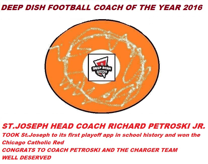 2016 Deep Dish Football Coach of the Year