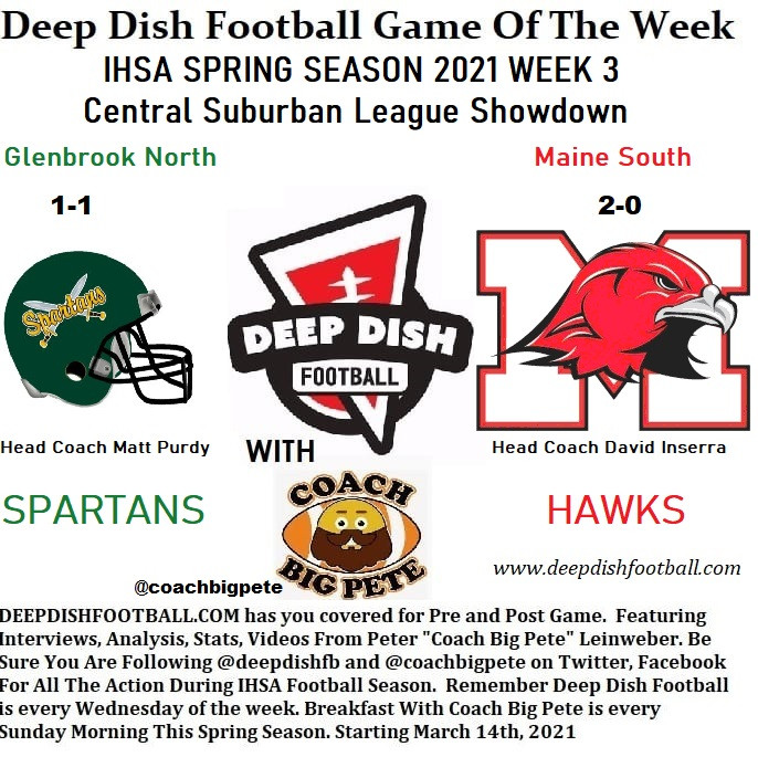 Coach Big Pete's Opening Remarks For Glenbrook North vs Maine South Deep Dish Football GOTW Week 3